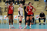 Wiesbaden, Germany, October 18: During the 1. Bundesliga Damen Saison 2014/15 volleyball match between VC Wiesbaden and Rote Raben Vilsbiburg on October 18, 2014 at the Sporthalle am Platz der Deutschen Einheit in Wiesbaden, Germany. Final score 3-0 (25:21, 29:27, 25:16) (Photo by Dirk Markgraf / www.265-images.com) *** Local caption ***
