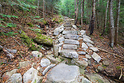 May 2015 - Hillside erosion near stonework along the Mount Tecumseh Trail in Waterville Valley, New Hampshire during the spring months. This staircase was built in 2011, and the erosion on the left side has worsened since then. More images showing how this section has changed over time can be found here: http://bit.ly/1wa6OYo