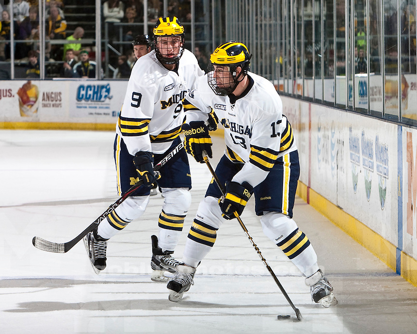 The University of Michigan men's hockey team beat Lake Superior State University, 4-2, at Yost Arena in Ann Arbor, Mich., on January 6, 2011.