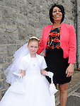 Aine Sheehan who received First Holy Communion in St. Cianan's church Duleek pictured with mam Elaine. Photo: Colin Bell/pressphotos.ie