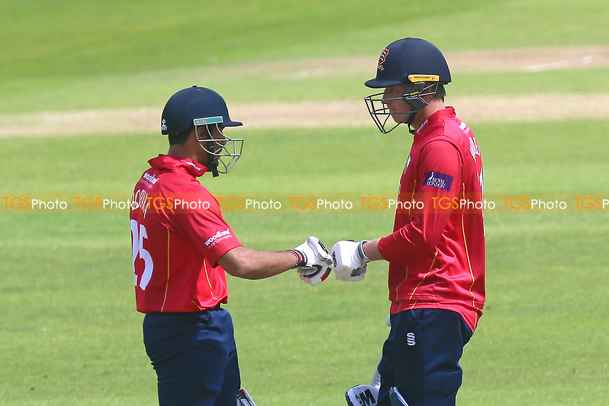 Ravi Bopara (L) congratulates Tom Westley on his century for Essex during Somerset vs Essex Eagles, Royal London One-Day Cup Cricket at The Cooper Associates County Ground on 14th May 2017