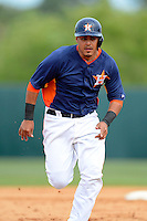 Houston Astros catcher Rene Garcia #69 during a Spring Training game against the St. Louis Cardinals at Osceola County Stadium on March 1, 2013 in Kissimmee, Florida.  The game ended in a tie at 8-8.  (Mike Janes/Four Seam Images)