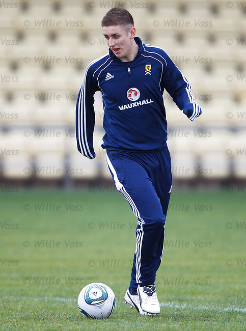 Tom Cairney of Hull with the Scotland u21 team
