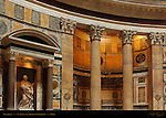 Pantheon interior architectural detail St Agnes Tomb of Umberto I Campus Martius Rome