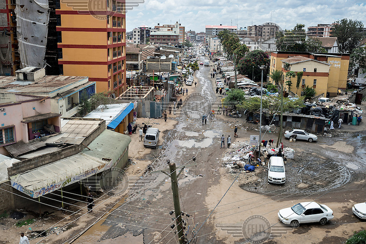 Eastleigh, a neighbourhood in Nairobi, also know as 'little Mogadishu', where most residents are from Somalia. Somali businessmen have invested heavily in property development but infrastructure in the area is neglected.