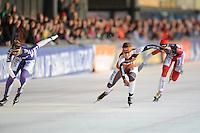 SCHAATSEN: UTRECHT: De Vechtsebanen, 26-12-2012, KPN NK Marathon, Topdivisie Dames, Finish, Rixt Meijer (#97), Lisanne Soemanta (#18), ©foto Martin de Jong