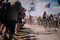 Chris Froome (GBR/SKY) on pav&eacute; sector #<br /> <br /> Stage 9: Arras Citadelle &gt; Roubaix (154km)<br /> <br /> 105th Tour de France 2018<br /> &copy;kramon