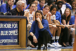 24 February 2012: Duke head coach Joanne P. McCallie. The Duke University Blue Devils defeated the University of Miami Hurricanes 74-64 at Cameron Indoor Stadium in Durham, North Carolina in an NCAA Division I Women's basketball game.