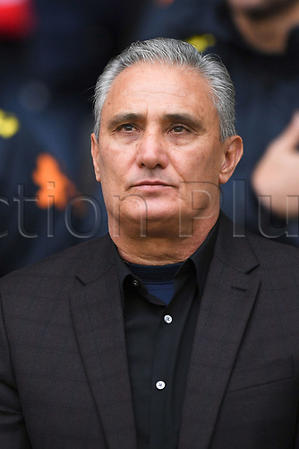 11th November 2017, Stadium Pierre Mauroy, Lille, France; International football friendly in preparation for World Cup 2018 finals;  TITE Brazil manager