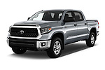 2020 Toyota Tundra SR5 5.7L Crew Max 4WD Short Bed 4 Door Pick Up angular front stock photos of front three quarter view