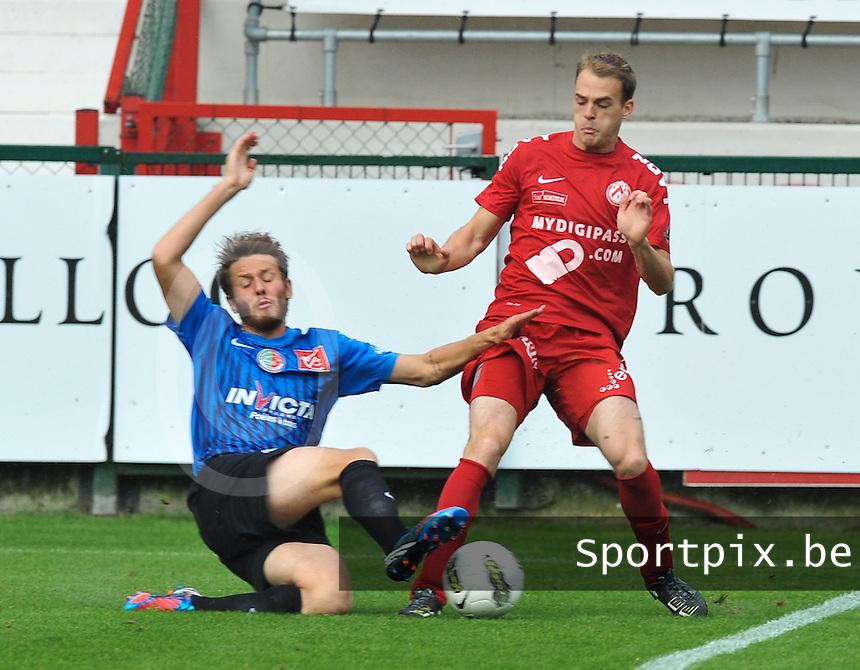 KV Kortrijk : Brecht Capon aan de bal.foto VDB / BART VANDENBROUCKE