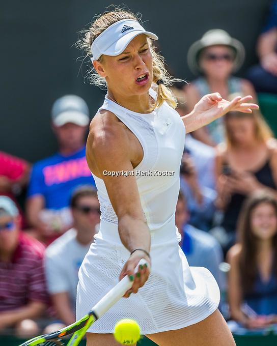 London, England, 10th July 2017. Tennis, Wimbledon. Caroline  Wozniacki (DEN). Photo Henk Koster, Tennis Images.