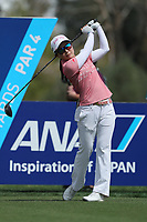 Ayako Uehara hits her drive off of the 3rd tee during Round 3 at the ANA Inspiration, Mission Hills Country Club, Rancho Mirage, Calafornia, USA. {03/31/2018}.<br />