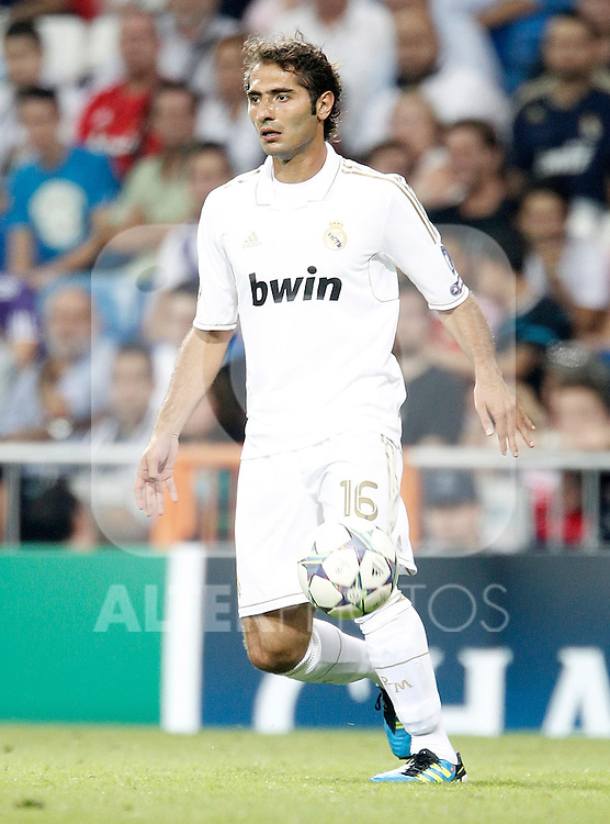 Real Madrid's Hamit Altintop makes his full debut during UEFA Champions League match. September 27, 2011. (ALTERPHOTOS/Alvaro Hernandez)