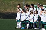 110410 Hammarbys Mami Yamaguchi (v) innan fotbollsmatchen i Damallsvenskan mellan Hammarby och Ume&aring; den 10 April 2011 i Stockholm. <br /> Foto: Kenta J&ouml;nsson<br /> Nyckelord: fotboll, damallsvenskan, hammarby, ume&aring;