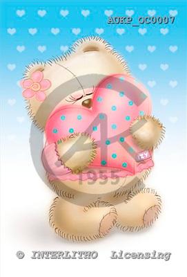 Samantha, VALENTINE, paintings,+bears, hearts,++++,AUKPOC0007,#V# illustrations, pinturas ,everyday