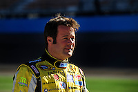 Apr 10, 2008; Avondale, AZ, USA; NASCAR Sprint Cup Series driver Robby Gordon during qualifying for the Subway Fresh Fit 500 at Phoenix International Raceway. Mandatory Credit: Mark J. Rebilas-