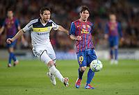 FUSSBALL   CHAMPIONS LEAGUE SAISON 2011/2012   HALBFINALE   RUECKSPIEL        FC Barcelona - FC Chelsea       24.04.2012 Frank Lampard (li, FC Chelsea) gegen Lionel Messi (re, Barca)