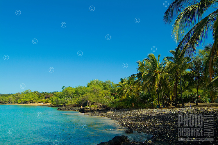 Black coral shoreline of La Perouse Bay on the Makena coast of West Maui.