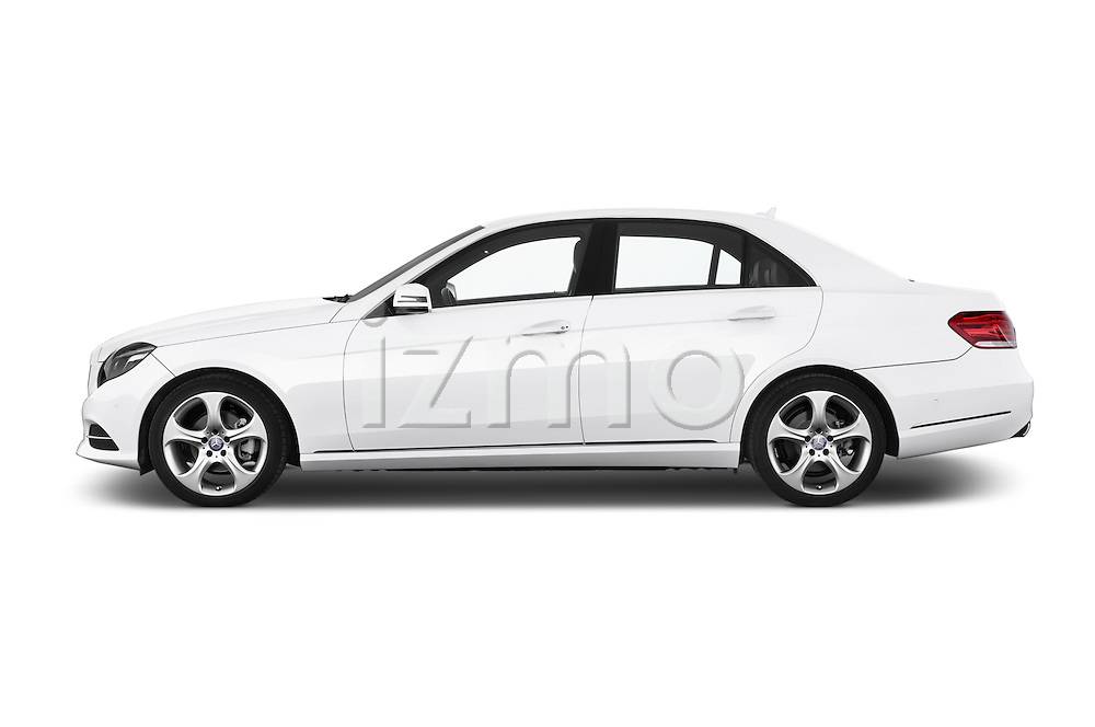 Car Driver side profile view of a 2015 Mercedes Benz Classe E E220 4 Door Sedan 2WD Side View