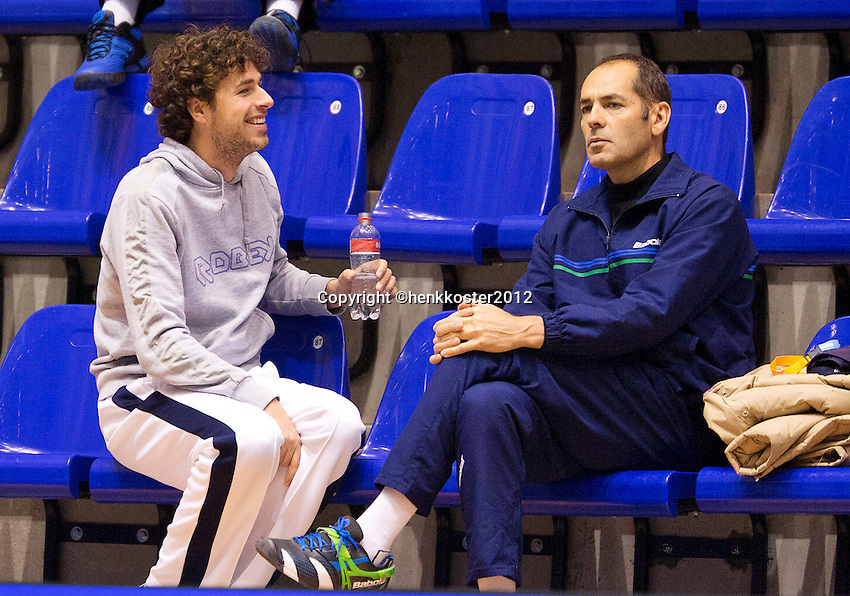 13-12-12, Rotterdam, Tennis Masters 2012, Robin Haase and his coach Marcos Gorriz