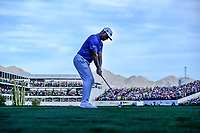 Gary Woodland (USA) on the 16th tee during the 1st round of the Waste Management Phoenix Open, TPC Scottsdale, Scottsdale, Arisona, USA. 31/01/2019.<br /> Picture Fran Caffrey / Golffile.ie<br /> <br /> All photo usage must carry mandatory copyright credit (&copy; Golffile | Fran Caffrey)
