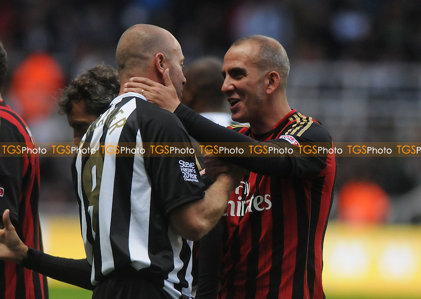 Paolo Di Canio of AC Milan Glorie and Alan Shearer of Newcastle United Legends shake hands before the game kicks off - Newcastle United Legends vs AC Milan Glorie - Steve Harper Testimonial Match at Newcastle United FC, St James Park, Newcastle upon Tyne - 11/09/13 - MANDATORY CREDIT: Steven White/TGSPHOTO - Self billing applies where appropriate - 0845 094 6026 - contact@tgsphoto.co.uk - NO UNPAID USE