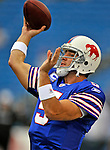 21 September 2008: Buffalo Bills' quarterback Trent Edwards warms up prior to a game against the Oakland Raiders at Ralph Wilson Stadium in Orchard Park, NY. The Bills defeated the Raiders 24-23 to mark their first 3-0 start of the season since 1992...Mandatory Photo Credit: Ed Wolfstein Photo