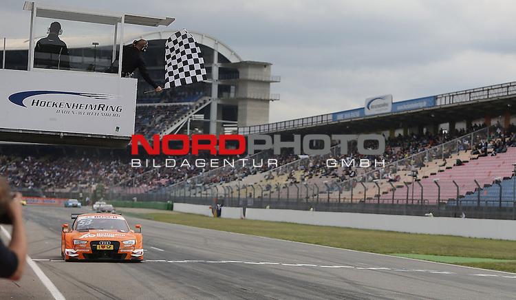 DTM 2015, 01.Lauf Hockenheimring, 01.05. - 03.05.15 <br /> Zieldurchfahrt vom Sieger Jamie Green (GBR#53) Audi Sport Team Rosberg Audi RS 5 DTM <br /> <br /> <br /> <br /> Foto &copy; nordphoto /  Bratic