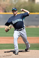 Anthony Vasquez #24  of the Seattle Mariners plays in a minor league spring training game against the Kansas City Royals at the Royals minor league complex on March 26, 2011  in Surprise, Arizona. .Photo by:  Bill Mitchell/Four Seam Images.