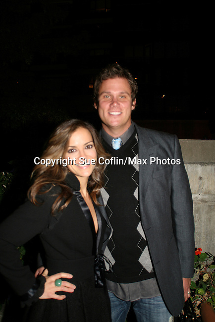 All My Children's Rebecca Budig and husband Bob Guiney at the ABC Daytime Casino Night on October 23, 2008 at Guastavinos, New York CIty, New York. (Photo by Sue Coflin/Max Photos)