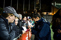 Seattle, Washington -  Saturday April 22, 2017: Nahomi Kawasumi following a regular season National Women's Soccer League (NWSL) match between the Seattle Reign FC and the Houston Dash at Memorial Stadium.