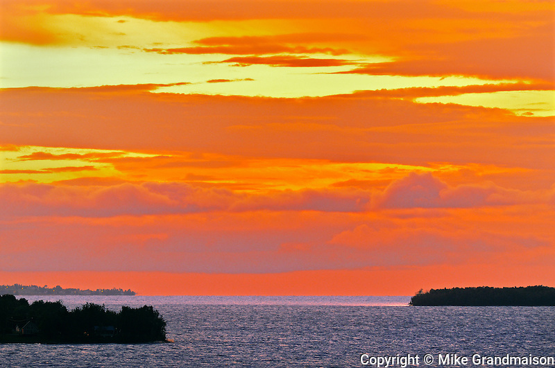 Sunset on Lac St. Jean<br /> near Robertval<br /> Quebec<br /> Canada