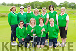 The Tralee team that played in the Junior foursomes in Castleisland on Saturday front row l-r: Karen Gearon, Sue Holmes, Goretti O'Connor, Norah Quinlan. Back row: Cora O'Mahony, Brid Halloran, Barbara Reen, Siobhin Stack, Bernie Buckle Lady Captain, Antoinette Sayers and Marie McGrath