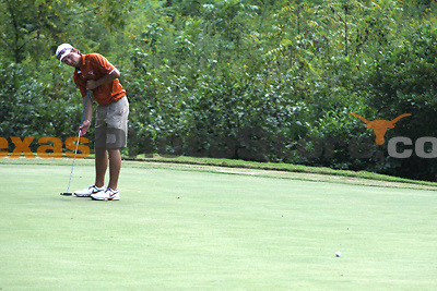 University of Texas senior Toni Hakula putts during the Carpet Capital Collegiate at The Farm Golf Club in Rocky Face, Ga., on Sunday, Sept. 8. The Longhorns return to The Farm as defending champions after shooting a 13-under 851 in 2012.<br /> <br /> Photo by Patrick Smith