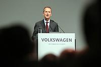03 May 2018, Germany, Berlin: Herbert Diess, CEOof Volkswagen AG, speaking at the Volkswagen AG annual general meetingat the Messegelaende in Berlin. Photo: Wolfgang Kumm/dpa /MediaPunch ***FOR USA ONLY***