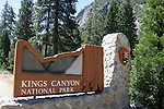 Kings Canyon National Park sign
