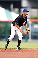 June 29, 2009:  Shortstop Wilson Valdez of the Buffalo Bisons in the field during a game at Coca-Cola Field in Buffalo, NY.  The Bisons are the International League Triple-A affiliate of the New York Mets.  Photo by:  Mike Janes/Four Seam Images