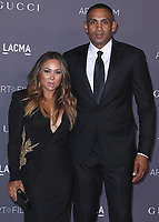 LOS ANGELES - NOVEMBER 4:  Tamia Hill and Grant Hill at the 2017 LACMA Art + Film Gala at LACMA on November 4, 2017 in Los Angeles, California. (Photo by Scott Kirkland/PictureGroup)