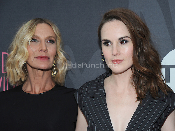 NEW YORK, NY - NOVEMBER 14:  Actors  Lusia Strus and Michelle Dockery attend the TNT  'Good Behavior' NYC Premiere at Roxy Hotel on November 14, 2016 in New York City. Photo by John Palmer MediaPunch