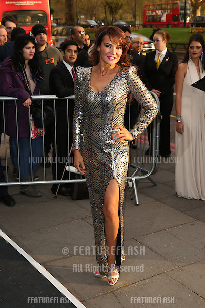 Lizzie Cundy at The Asian Awards 2014 held at Grosvenor House Hotel, London. 04/04/2014 Picture by: Henry Harris / Featureflash