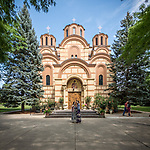 Front fa&ccedil;ade, New Gracanica Monastery, Third Lake, Illinois<br /> <br /> With His Holiness Irinej, Patriarch of the Serbian Orthodox Church<br /> <br /> <br /> #NGMWADiocese<br /> #GlorificationStMardarije, #Chicago, #PatriarchIrinej, #MetropolitanAmphiloije<br /> #SerbianOrthodoxChurch