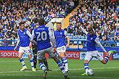 1st October 2017, Hillsborough, Sheffield, England; EFL Championship football, Sheffield Wednesday versus Leeds United; Joost van Aken of Sheffield Wednesday clears the ball
