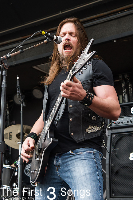 Mark Zavon of Kill Devil Hill  performs during the 2014 Rock On The Range festival at Columbus Crew Stadium in Columbus, Ohio.