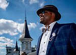 November 3, 2018 : A man looks over the twinspires on Breeders Cup World Championships Saturday at Churchill Downs on November 3, 2018 in Louisville, Kentucky. Scott Serio/Eclipse Sportswire/CSM
