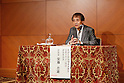 Tadao Ando, JULY 16, 2015 : World-renowned architect Tadao Ando attends a news conference about the Tokyo 2020 Olympic stadium design in Tokyo, Japan, on July 16, 2015. Ando chaired the committee that originally selected Zaha Hadid's design for the new national Stadium, and this decision has been questioned recently because of the rising costs of the project. The design had an original construction budget of 162.5 billion Yen but costs are now expected to be 252 billion Yen. (Photo by Yohei Osada/AFLO SPORT)