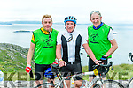 GAA legends Vince Casey, Joe Shannon and Mike Buckley at the top of  Coommosta during their Ring of Kerry cycle on Saturday morning