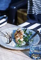 """Europe/France/Aquitaine/33/Gironde/Pyla-sur-Mer: Tresse de sole à la vanille - Recette de Gérard Tissier du restaurant """"Gérard Tissier"""" boulevard de l'Océan"""