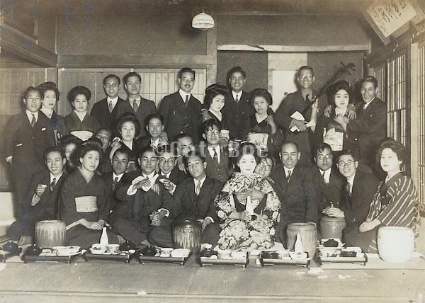 an old Ryotei style restaurant Yokosuka Japan 1930s