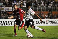 SÃO PAULO,SP,13 MARÇO 2013 - COPA LIBERTADORES AMÉRICA 2013 - CORINTHIANS (Bra) x THIJUANA (MEX) -Romarinho  jogador do Corinthians durante partida Corinthians x Thijuana válido pela 4º rodada da Copa Libertadore América 2013 no Estádio Paulo Machado de Carvalho (Pacaembu) na noite desta quarta feira (13).FOTO ALE VIANNA - BRAZIL PHOTO PRESS.